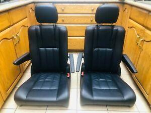 Bucket Seats Sprinter Transits Van Leather OEM Black Leather New
