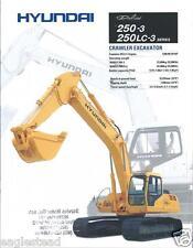 Equipment Brochure - Hyundai - Robex 250-3 Lc-3 - Excavator - 1998 (E2574)