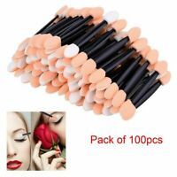 100x Soft Disposable Eye Shadow Applicators Sponge Eye Lips Makeup Brush Tool