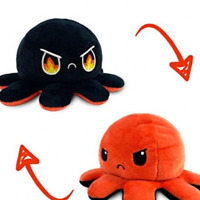 Reversible Flip Octopus Plush Stuffed Toy Soft Animal Home accessories Fire Eyes