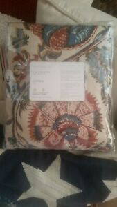 """NEW Pottery Barn Haylie Print Drape Curtain Panel 84"""" Red floral palampore"""