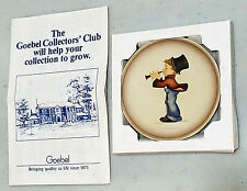 "Goebel MI HUmmel Little Music Makers Miniature Collectible Plate ""Serenade"" 2of4"