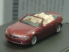 Herpa BMW 6er Cabrio E64 rot met., dealer model - 432 - 1:87