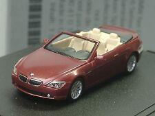 Herpa BMW 6er Cabrio E64 rot met., dealer model - 432 - 1:87