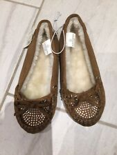 NWT JUSTICE Girls Size 12 Brown Mocasines Shoes Fall Bts Comfy