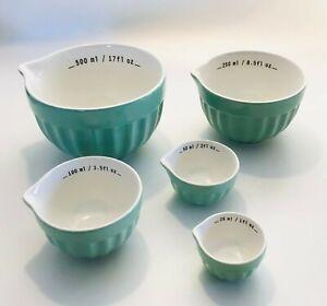 Crofton Measuring Bowl Set of Five Porcelain  Ceramic Bowls Kitchen Cooking