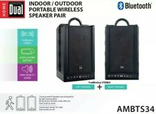 Dual Electronics Ambts34 Wireless Portable Bluetooth Speakers|TruWireless Stereo