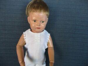 """11"""" Schoenhut Walker Doll - Two Labels"""