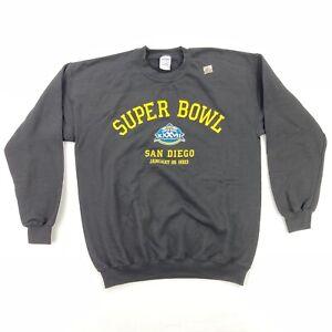 NEW Super Bowl 37 Men's San Diego 2003 Black Sweatshirt Crew Neck • Large