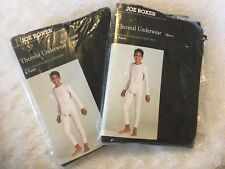 Joe Boxer Lot Of 2 Sets BOYS 2 PC Black THERMAL LONG UNDERWEAR SET SZ 8