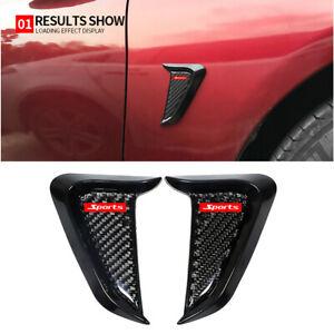 Car SUV Side Fender Air Vent Cover Trim Shark Gills Decoration Carbon Fiber 2pcs