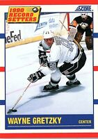 1990 Score RECORD SETTER Trading Card of WAYNE GRETZKY #347
