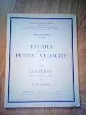 CZERNY - Etudes de la petite Vélocité Op. 636 par H. CLassens - Combre