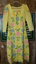 Vintage 70's handmade maxi dress embroidered size small
