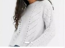 Bershka Cable Knit Jumper in Grey Size M RRP £25 #16