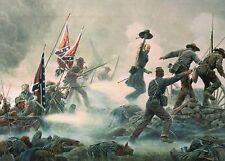 Pickett's Charge Cemetery Ridge Battle of Gettysburg Military Civil War Postcard