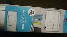 Peel & Stick dry erase  weekly planner & black dry erase pen NEW 17.5 x 23.5 in