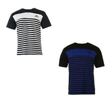 MENS LONSDALE STRIPED CREW TSHIRT RRP £24.99 BLK/BLUE OR NVY/CREAM-SALE 10% OFF