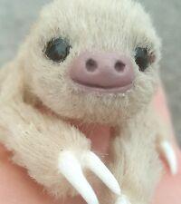 OOAK Miniature Sloth Poseable Art Doll Realistic Stuffed Sloth Animal Reborn
