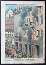 1900 FERRARA INCENDIO POMPIERE EROE Bambino Aracoeli Cardinale Jacobini VERONA