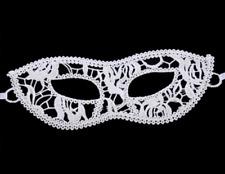 Masque loup en dentelle blanche, accessoires sexy, déguisement,  soirée coquine