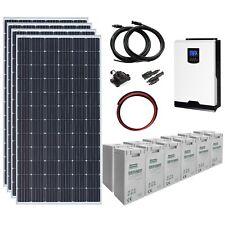 1.4kW 24V Complete Off-grid System: 4 x 360W solar panels, 3kW hybrid inverter
