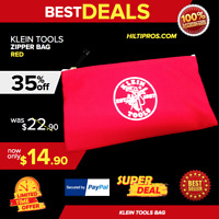 Klein Tools 5140 Canvas Zipper Bag, RED, FAST SHIP