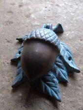heurtoir , frappe porte en bronze patiné ,sonnette, un gland ,nouveau  !
