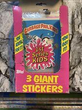 1986 Topps Garbage Pail Kids Giant Series 1 Stickers (15 Sealed Packs).