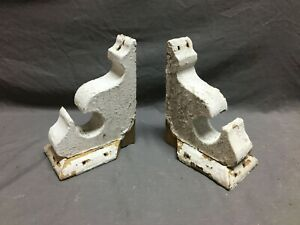 Small Pair Antique Wood Porch Corbels Shabby VTG Chic Shelf Brackets 1352-20B