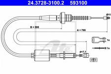 Seilzug, Kupplungsbetätigung für Kupplung ATE 24.3728-3100.2