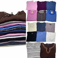 NWOT 14pc Clothing LOT Shirts Tops Long Sleeve Womens XL Casual Solid Striped