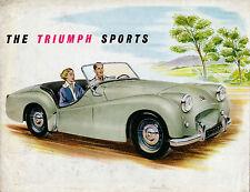Triumph TR2 1953-55 Original UK Market Sales Brochure