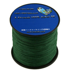 100% PE Material 4 Strand Braid 100-1000M Powerful Super Fishing Line Durable C