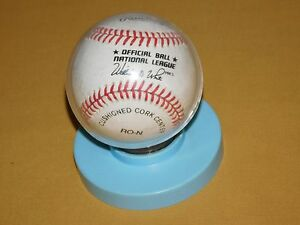VINTAGE MLB LEE MAZZILLI NEW YORK  METS AUTOGRAPHED SIGNED BASEBALL