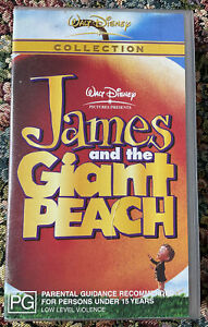 JAMES AND THE GIANT PEACH Retro Animated Movie VHS Tape 2000S PG
