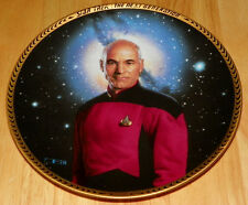 Star Trek Next Generation (Tng) Collector Plate Jean Luc Picard Coa