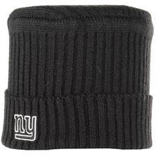 Mens Reebok NY Skull Cuffed Turn Up Knit Cap Woolly Beanie Winter Warm Hat Black