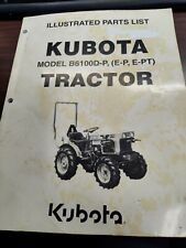 Illustrated Parts List for Kubota Tractor Model B6100D-P Manual