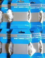 Lot 2 Cables de dérailleur Vélo / VTT Shimano 1,2mm / 2100mm (avec embout) .