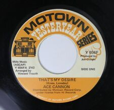 Rock 45 Ace Cannon - That'S My Desire / Danny Boy On Motown Records