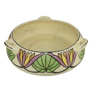 Roseville Pottery Persian Creamware 1916 Floral Handled Bowl 316