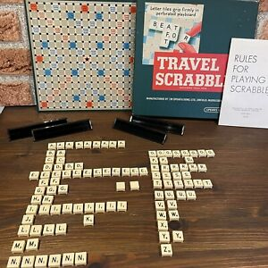 Vintage Travel Scrabble Board Game by Spear's Games 100% Complete Rare