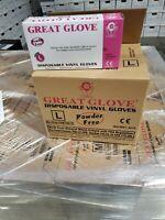 1000 PC DISPOSABLE VINYL GLOVES  Powder-Free Latex-Free Non-Sterile - L