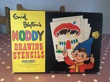 Vintage Spear's Games Noddy Crayon Stencil Set VGC 1970s