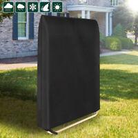Folding Rattan Sun Lounger Cover Garden Waterproof Recliner Chair Outdoor Black
