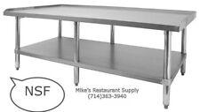 New 60x30 Equipment Stand Stainless Steel Top 16 Ga Galvanized Bottom Nsf #6965