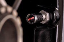 Cream Carbon - Genuine Carbon Fibre Tyre Valve Dust Caps - Fits all cars & bikes