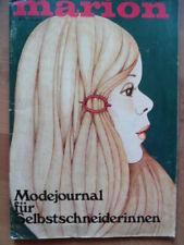 MARION August 8 - 1974 Mode-Journal + Schnittmuster