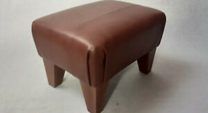 Footstool / Small Stool /  real leather Vintage Brown    (code 2)